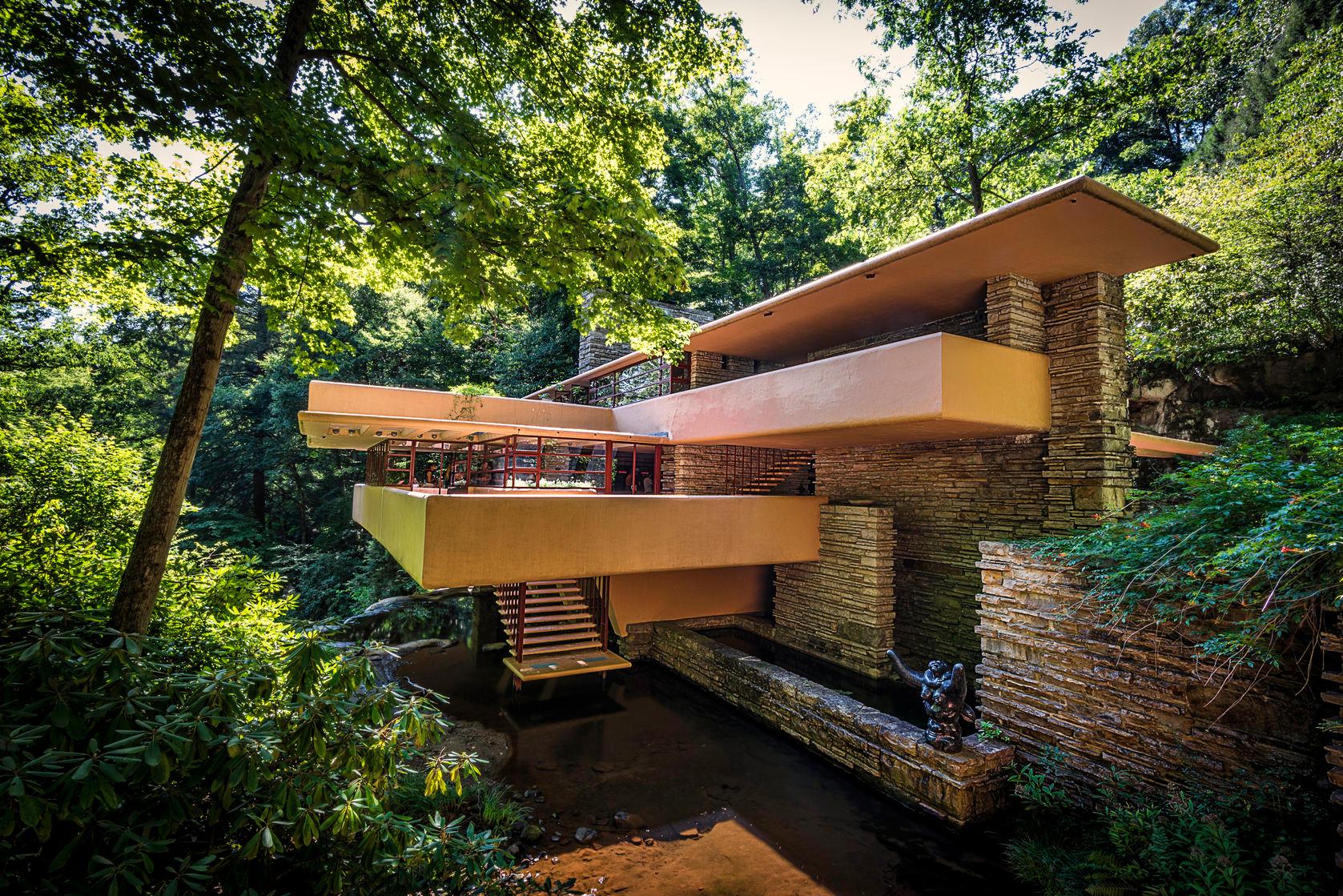 Frank lloyd wright 39 s fallingwater seven springs cabin for Wright la casa sulla cascata
